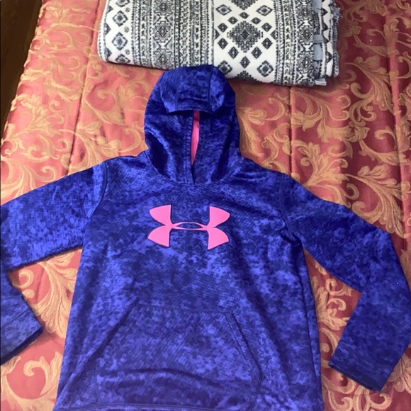 Purple and Pink Under Armour hoodie